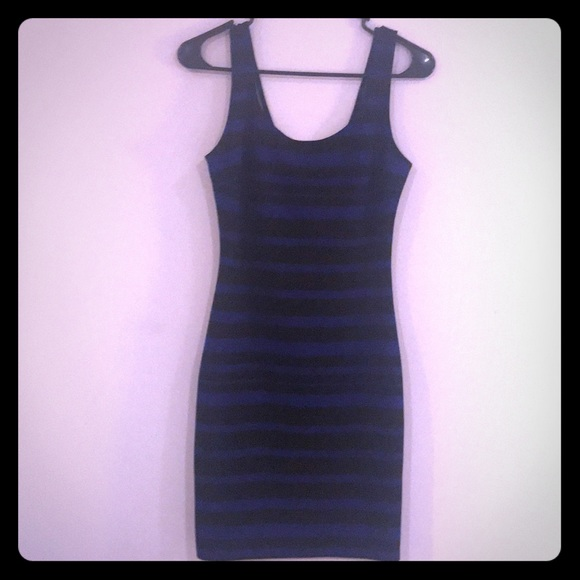 Dresses & Skirts - Blue and black striped dress